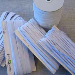 high-quality boil-proof elastic in a variety of widths, from 5mm to 25mm.