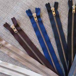 metal trouser zips, aluminium teeth