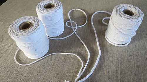 cotton piping cord, available in three sizes: 3mm, 4.5mm & 6mm