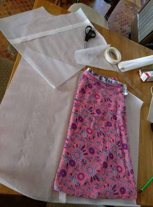 Converting the basic skirt pattern for culottes