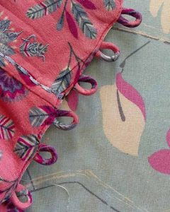 Fabric loops aren't difficult and are an attractive alternative to buttonholes.