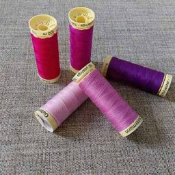 Gutermann Sew-All Pink and Purple Colours