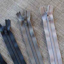 YKK Nylon dress and skirt zip: white/grey/black