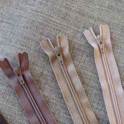 YKK Nylon dress and skirt zip: cream/beige/brown
