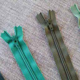YKK Nylon dress and skirt zip: greens