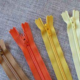 YKK nylon dress and skirt zip: yellow/orange