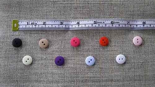 Two-hole matt-finish buttons