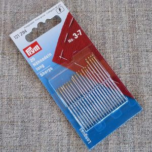 Prym sewing needles, sharps nos. 3 - 7