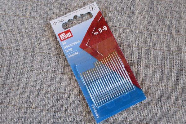 Prym sewing needles, sharps, sizes 5 - 9