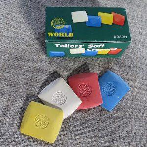 Tailors' chalk, individual squares