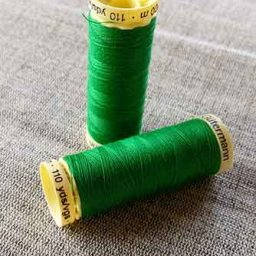 100% polyester sew-all thread, mid-green, colour 396