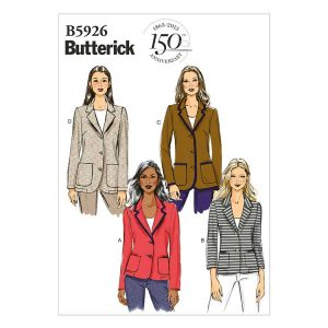 Butterick B5926 - new for 2018, an easy-to-sew jacket, made in a moderate stretch fabric.