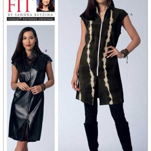V1510 Misses' zip-front tunic and dress