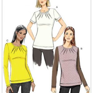 V9205 Misses' close-fitting pullover top