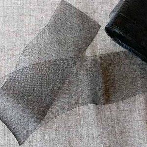 80mm crinoline or horsehair braid (black)