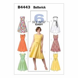 B4443 Misses'/Misses' Petite Dress