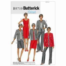 B5719 Misses'/Women's Jacket, Dress, Skirt and Pants