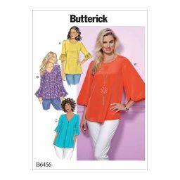 B6456 Misses' Tulip or Ruffle Sleeve Tops