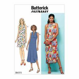 B6551 Misses' Dress