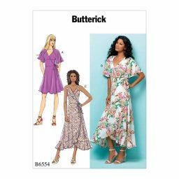 B6554 Misses' Wrap Dresses