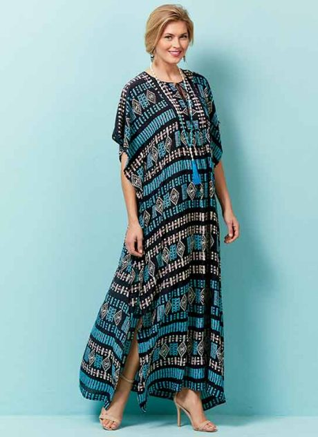 B6559 Misses' Top, Tunic and Caftan