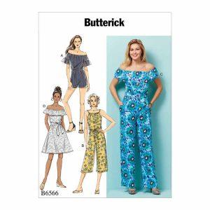 B6566 Misses'/Misses' Petite Dress,Romper, Jumpsuit and Sash