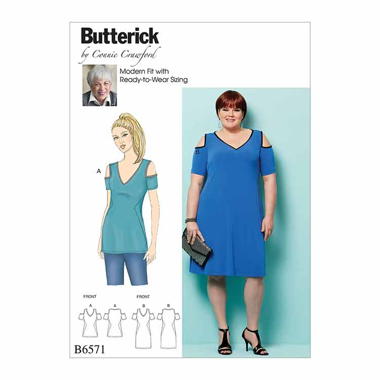 89ecb4a3781 B6571 Misses'/Women's Top and Dress - Sew Irish