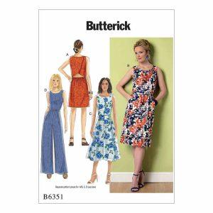 B6351 Misses' Dress and Jumpsuit