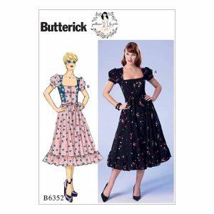 B6352 Misses'/Misses' Petite Dress and belt