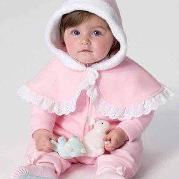 B6372 Infants' cape, vest, bunting and pants