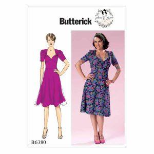 B6380 Misses' 1940's inspired dress