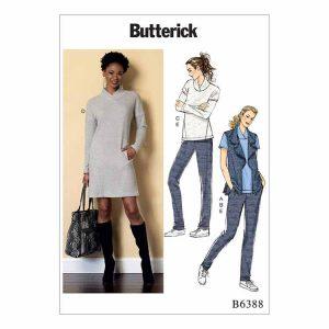 B6388 Misses' vest, dress and pants
