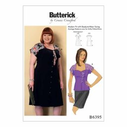 B6395 Misses'/Womens' dress and blouse