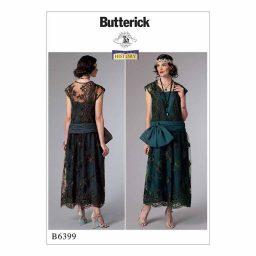 B6399 Misses' 1920's inspired dress