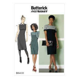 B6410 Misses'/Miss Petite Paneled Dresses with Yokes