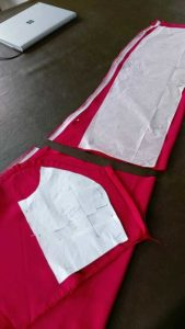 bodice panels were cut from sleeves