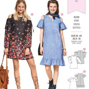 Burda Style Pattern B6402 Women's Mini Dresses