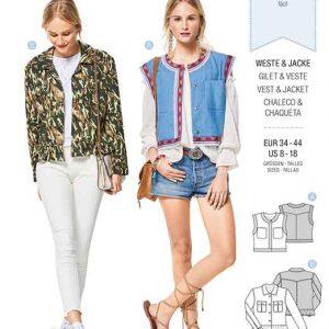 Burda Style Pattern B6407 Women's Open Waistcoat/Vest