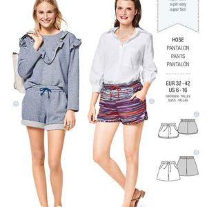 Burda Style Pattern B6409 Misses Shorts with Pockets