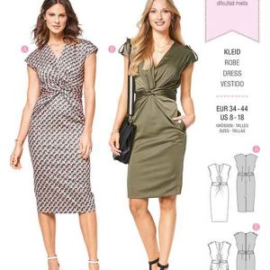 Burda Style Pattern B6411 Women's Dress With Front Twist