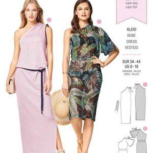 Burda Style Pattern B6412 Women's Easy to Sew Dresses