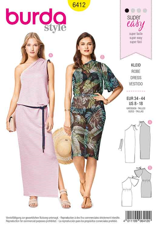 ec6f2533e84b Burda Style Pattern B6412 Women's Easy to Sew Dresses - Sew Irish