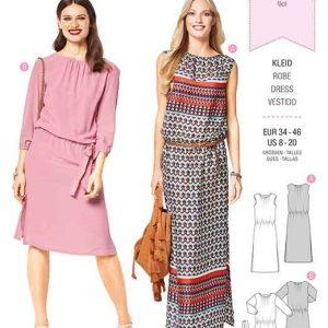 Burda Style Pattern B6413 Women's Elastic Waist Dresses