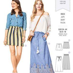 Burda Style Pattern B6416 Women's Easy Skirts