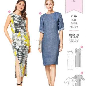 Burda Style Pattern B6418 Women's Feminine Dresses