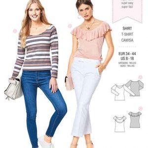 Burda Style Pattern B6428 Women's Fitted T-Shirts