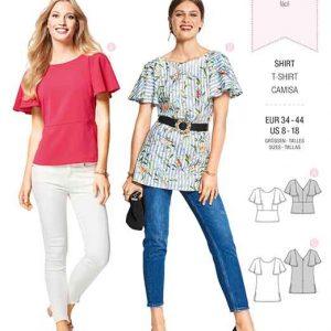 Burda Style Pattern B6429 Women's Trendy Tops