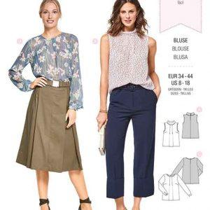 Burda Style Pattern B6434 Women's Feminine Blouses