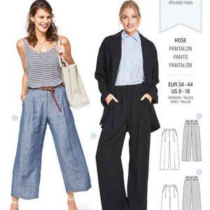 Burda Style Pattern B6436 Women's Wide Leg Trousers