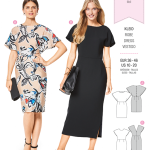 Burda Style Pattern B6439 Women's Back Interest Dresses